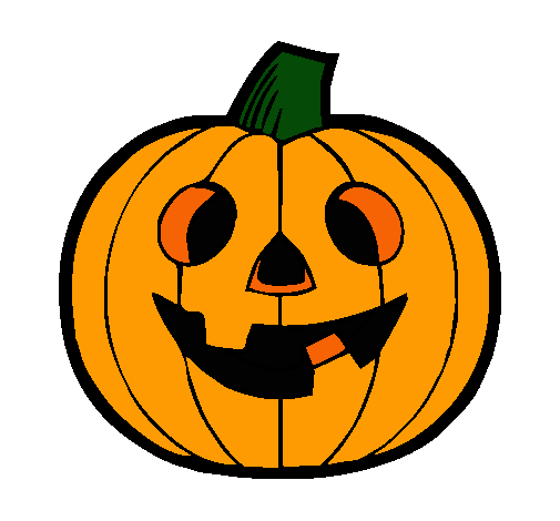 Dibujo de calabaza iv pintado por halloween en - Calabazas pintadas para halloween ...