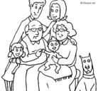 Dibujo Familia pintado por famili