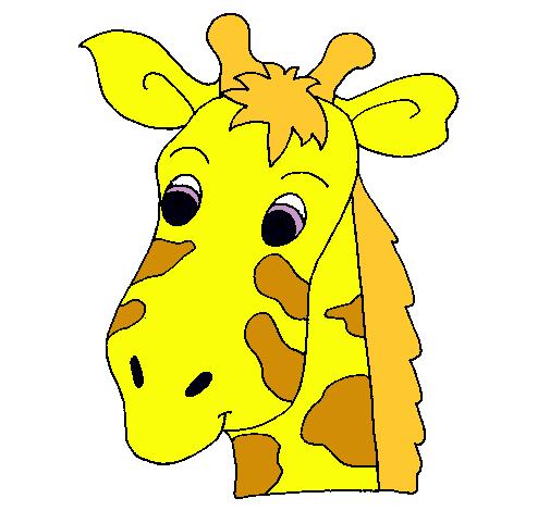 Dibujo de Cara de jirafa pintado por Adios en Dibujos.net el día ...