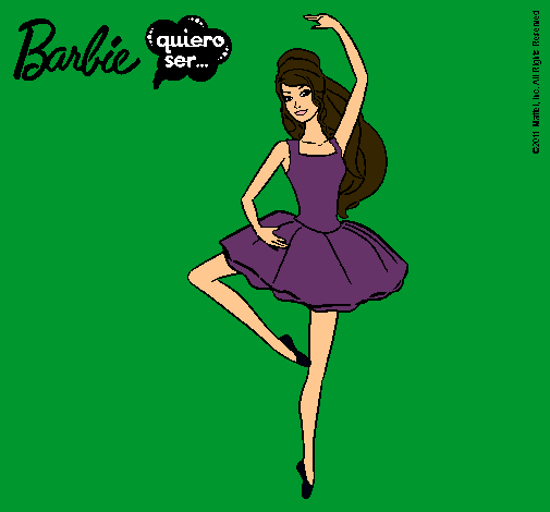 Dibujo de Barbie bailarina de ballet pintado por Miko en Dibujos