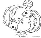 Dibujo Piscis pintado por yassir