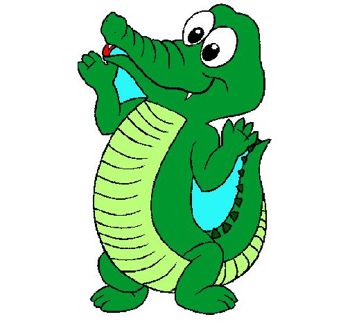 Dibujo de cocodrilo bebe pintado por infantil en dibujos for Dibujos infantiles pintados
