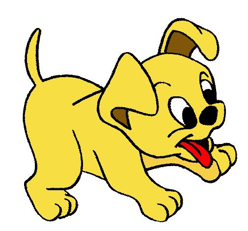 Dibujo de perrito pintado por infantil en el for Dibujos infantiles pintados