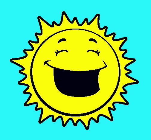 Dibujo de Sol sonriendo pintado por Soles en Dibujos.net el día 04 ...