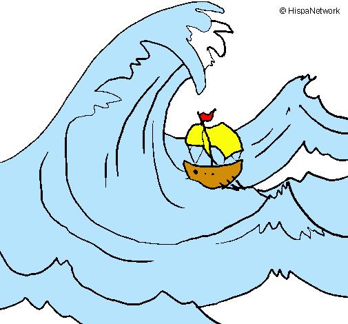 Dibujo de Gran ola pintado por Sapilili en Dibujosnet el da 05