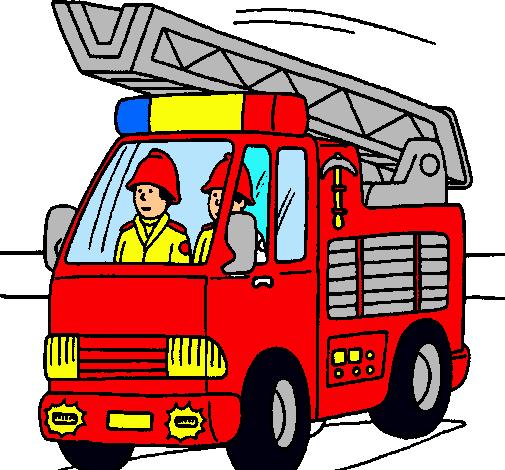 Worksheet. Dibujo de Coche de Bomberos pintado por Carro en Dibujosnet el