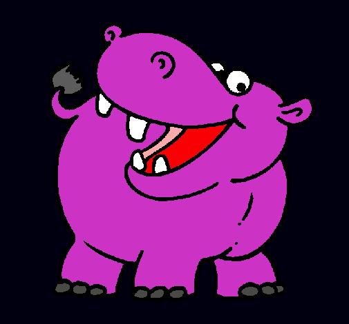 Dibujo de Hipopótamo pintado por Hipopotamo en Dibujos.net el día ...