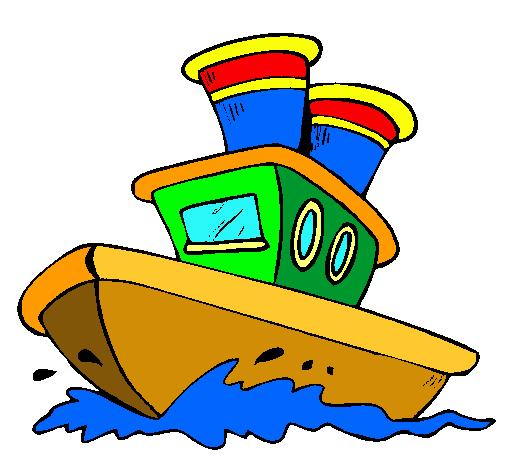 Dibujo de barco en el mar pintado por barquito en dibujos - Imagenes de barcos infantiles ...