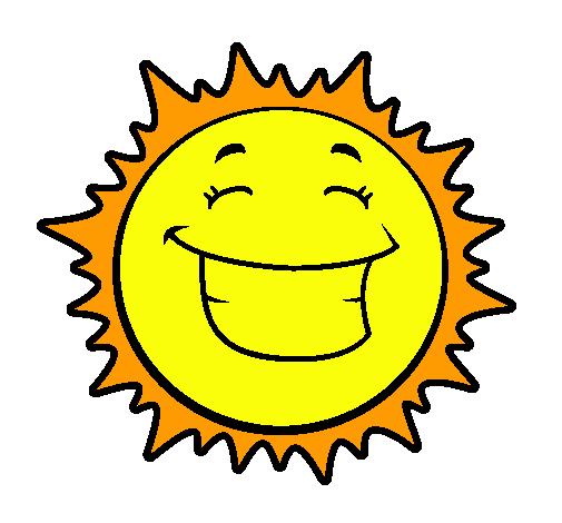 Dibujo de Sol sonriendo pintado por Nube en Dibujosnet el da 04