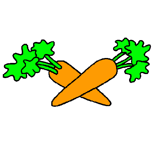 Dibujo de zanahorias pintado por Zanahoria en Dibujos.net el día ...