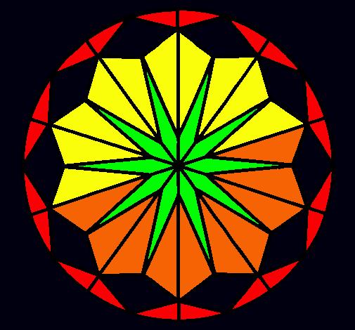 Dibujo de Mandala 42 pintado por Marihuana en Dibujosnet el da