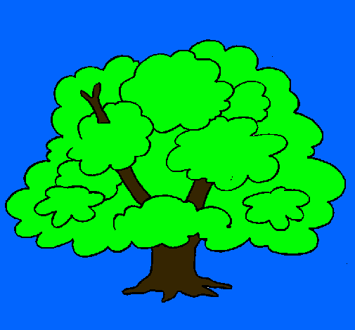 Dibujo de rbol pintado por arbolito en el d a for Dia del arbol 01 de septiembre