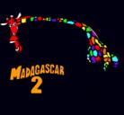 Dibujo Madagascar 2 Melman 2 pintado por blusa