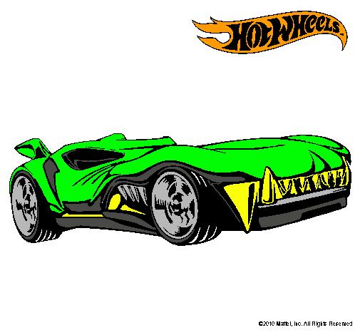 Dibujo de Hot Wheels 3 pintado por Carro en Dibujosnet el da 06