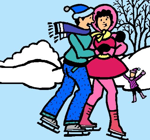 Worksheet. Dibujo de Patinadores sobre hielo pintado por Amari en Dibujosnet