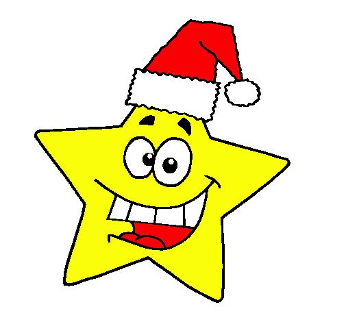 Dibujo de estrella de navidad pintado por distroller en - Dibujos de navidad en color ...