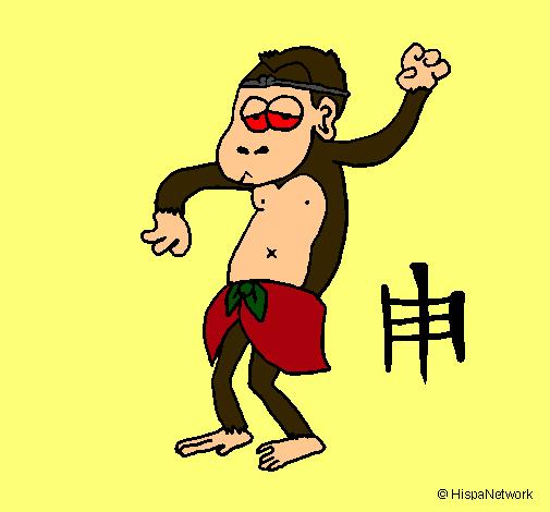 Dibujo de Mono pintado por Chayote en Dibujos.net el día 07-10-11 ...