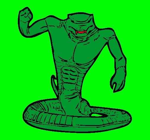 Dibujo de Cobra pintado por Serpiente en Dibujosnet el da 1310