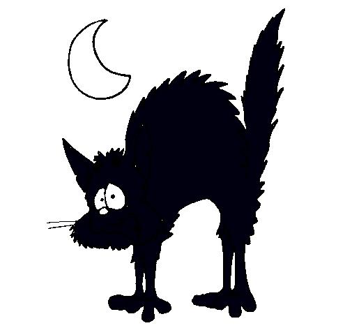 Dibujo de gato asustado pintado por gatonegro en dibujos - Dibujos de gatos pintados ...