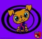 Dibujo Perrito Littlest Pet Shop pintado por merlia