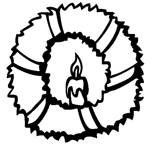 Dibujo de Corona de navidad II pintado por Rubenr en Dibujos.net el ...