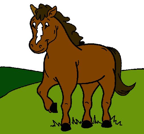 Dibujo de Caballo pintado por Yija en Dibujosnet el da 061111