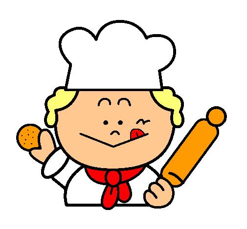 Dibujo de cocinero 2 pintado por panadero en for Dibujos para comedor escolar