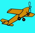 Dibujo Avión de juguete pintado por rios