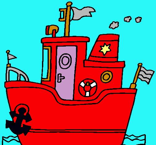 Barco con ancla