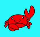 Dibujo Acuarel el cangrejo pintado por rios