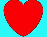 Dibujo Corazón pintado por evitas