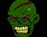 Dibujo Zombie pintado por evitas