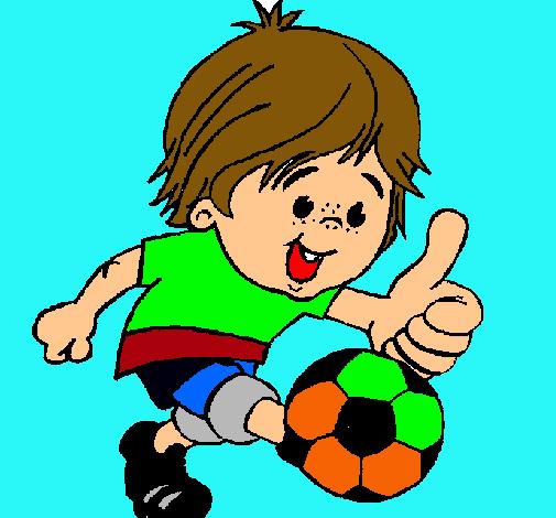 Dibujo de Chico jugando a fútbol pintado por Juansanti en Dibujos ...