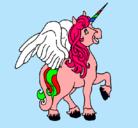 Dibujo Unicornio con alas pintado por DANILITO