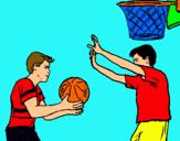 Dibujo Jugador defendiendo pintado por DANILITO