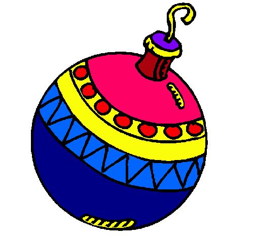 Dibujo de bola de navidad pintado por 143002 en dibujos for Dibujo bola navidad