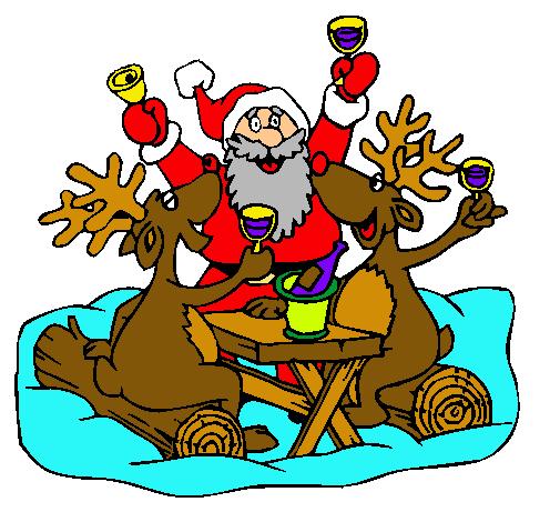 Dibujo de navidad pintado por aamp en el d a - Dibujos en color de navidad ...
