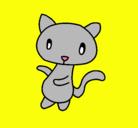 Dibujo Gato garabato pintado por juhygtfr