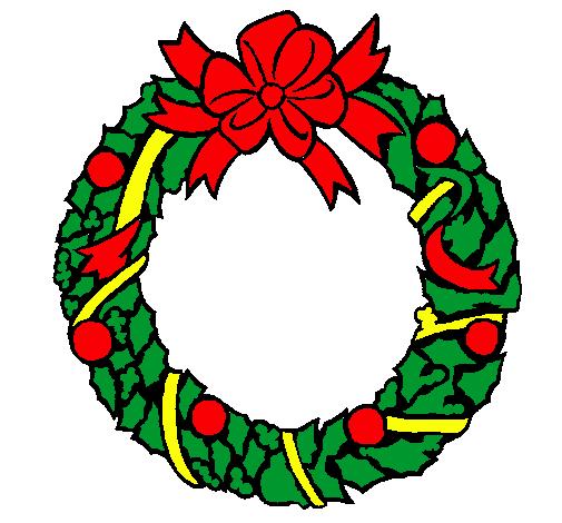 Dibujo de Corona de navidad pintado por Peroesque en ...