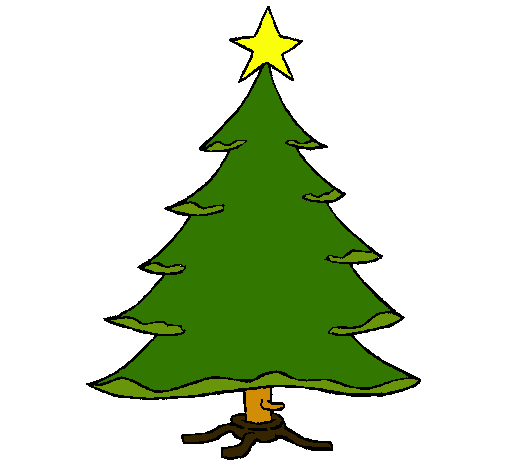 Dibujo de abeto con estrella pintado por lucial luli en el d a 23 12 11 a las 06 10 - Arbol de navidad abeto ...