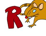 Dibujo Rata pintado por leoelena