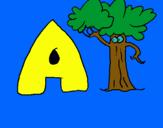 Dibujo Árbol pintado por josabnf