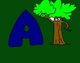 Dibujo Árbol pintado por jeovanni
