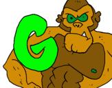 Dibujo Gorila pintado por yala
