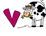 Dibujo Vaca pintado por leoelena