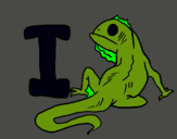 Dibujo Iguana pintado por dsdss