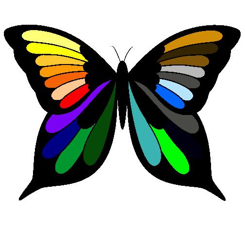 Dibujo de Mariposa 8 pintado por Color en Dibujos.net el día 31-12 ...