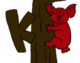 Dibujo Koala pintado por javter