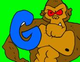 Dibujo Gorila pintado por hugoboss