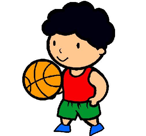 Dibujo de Jugador de básquet pintado por Basquetbol en ...